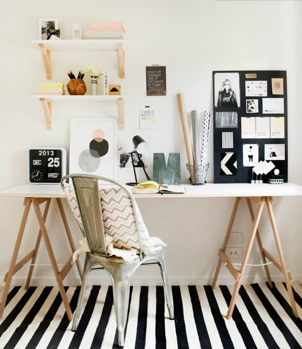 como decorar mi oficina en casa minimalista