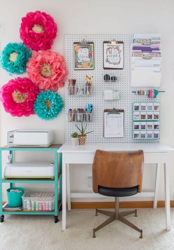 como decorar mi oficina en casa organización