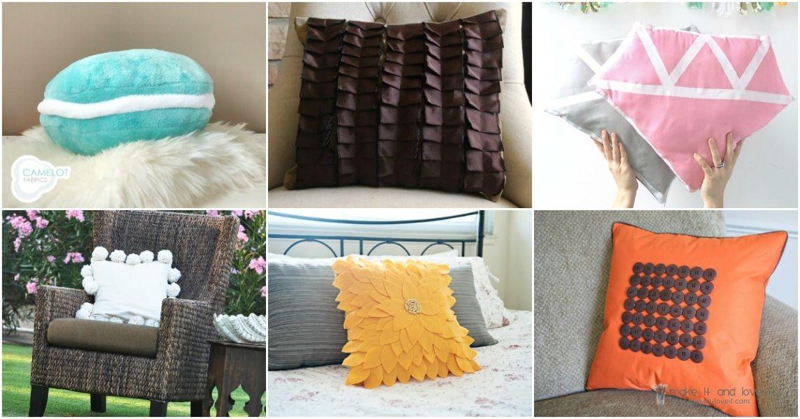 como hacer almohadones para cama diversos modelos
