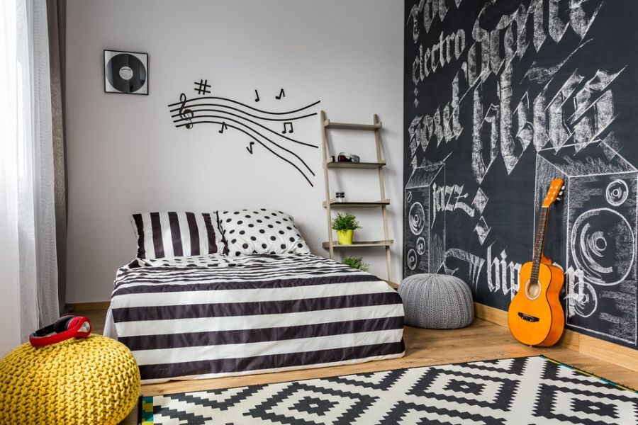 cuartos decorados para adolescentes paredes con tematicas