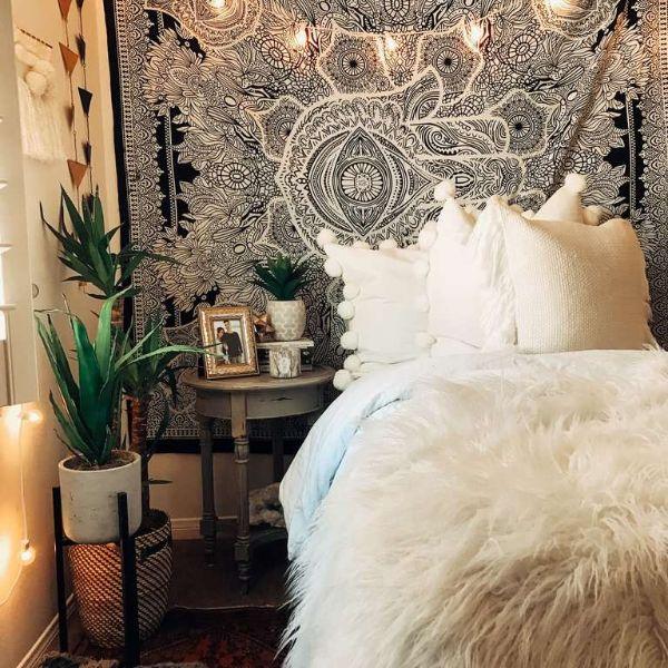 cuartos modernos para adolescentes boho