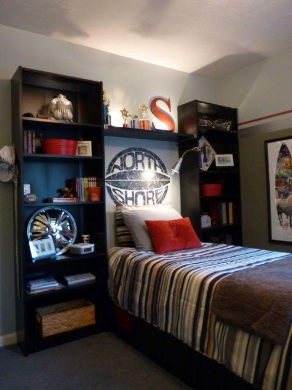 cuartos modernos para adolescentes organización