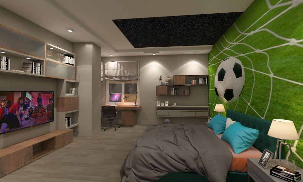 cuartos pequeños para adolescentes con murales