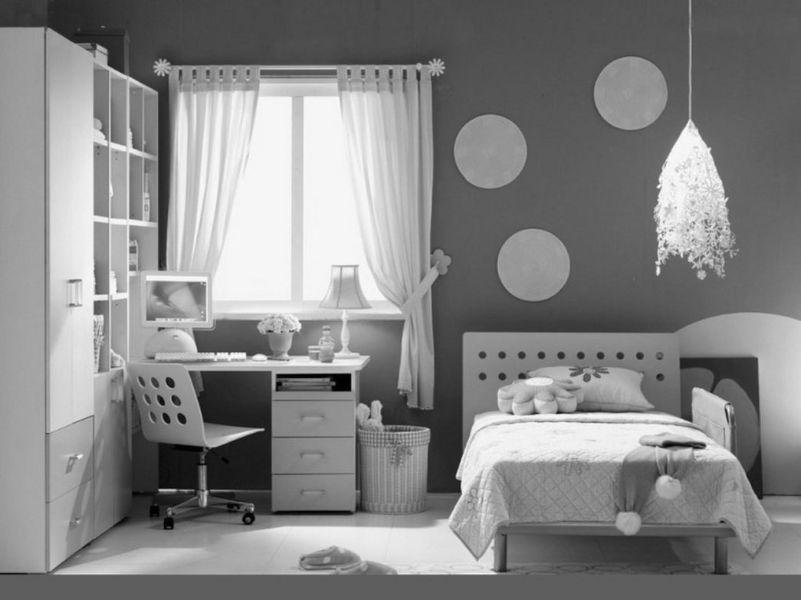 habitaciones modernas para adolescentes a dos tonos