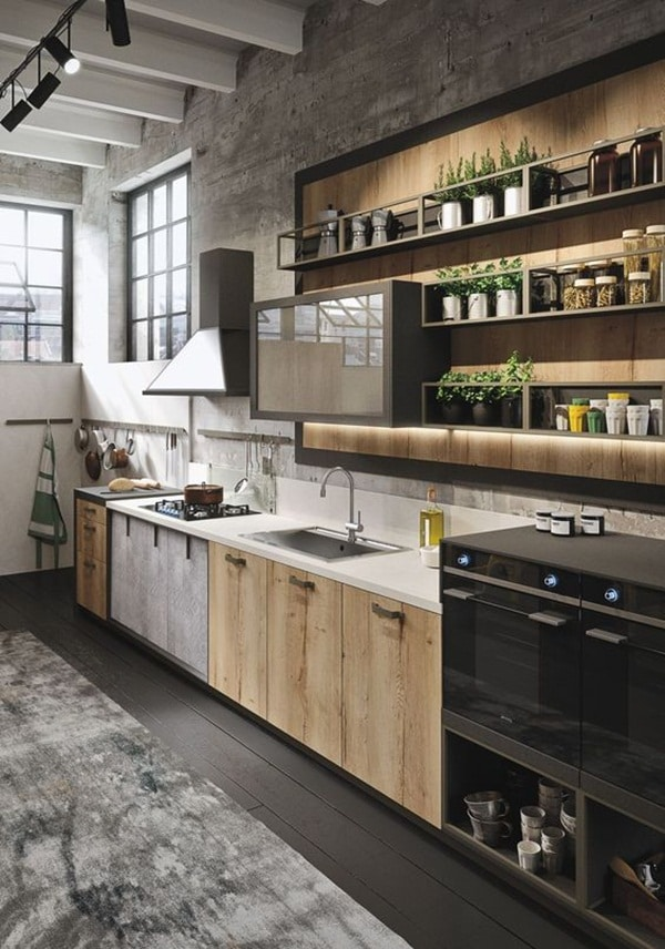 cocinas decoradas modernas combinacion de estilos