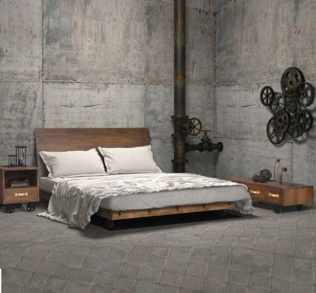 decoración de dormitorios modernos industrial