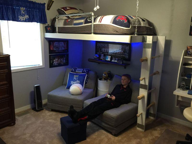 habitaciones gamer pequeñas comodidad