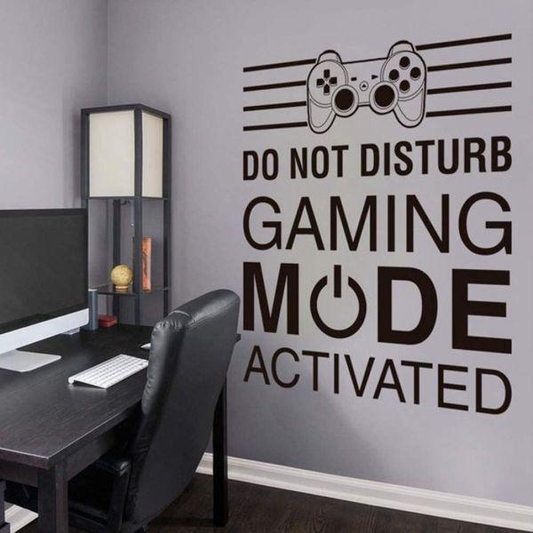 habitaciones gamer pequeñas viniles decorativos