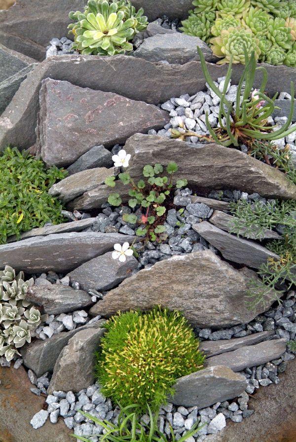 ideas de jardines con piedras de diferentes tamaños