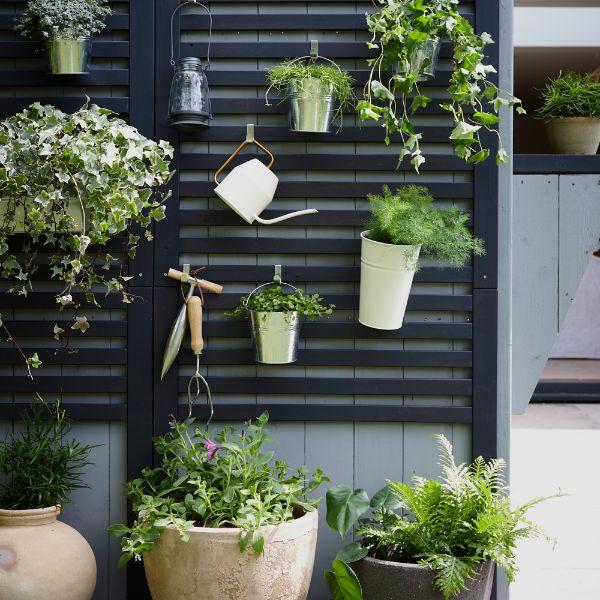 ideas para jardines en casa colgantes