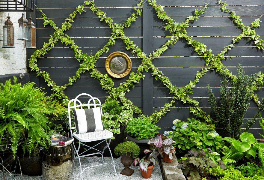 ideas para jardines en casa uso de muros