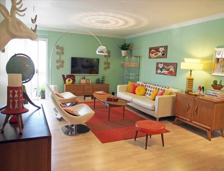 salas vintage modernas muebles retro