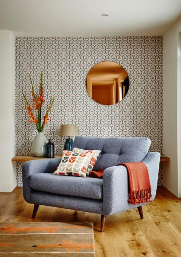 salas vintage modernas tapices
