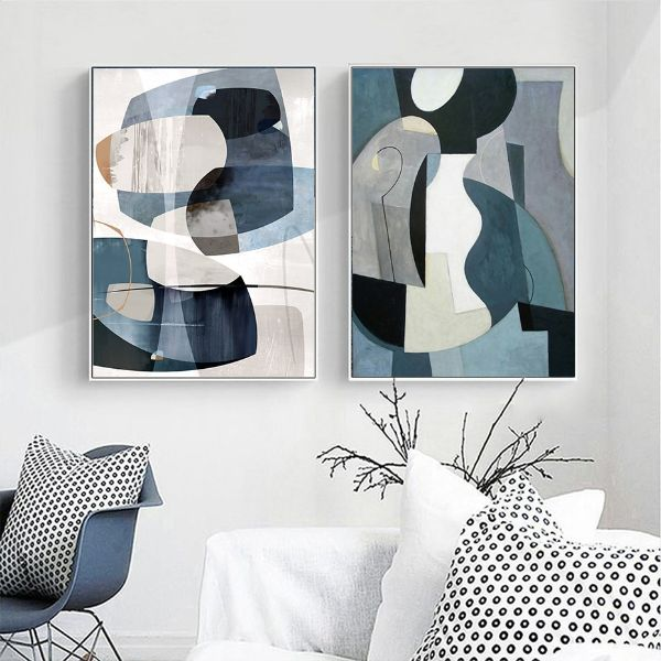 cuadros vintage para sala arte abstracto