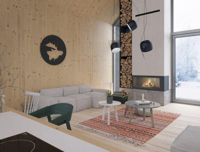 decoracion de cabañas por dentro ideas modernas