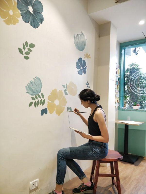 dibujos para hacer en la pared flores