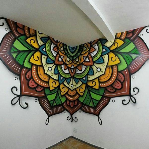 dibujos para hacer en la pared mandalas