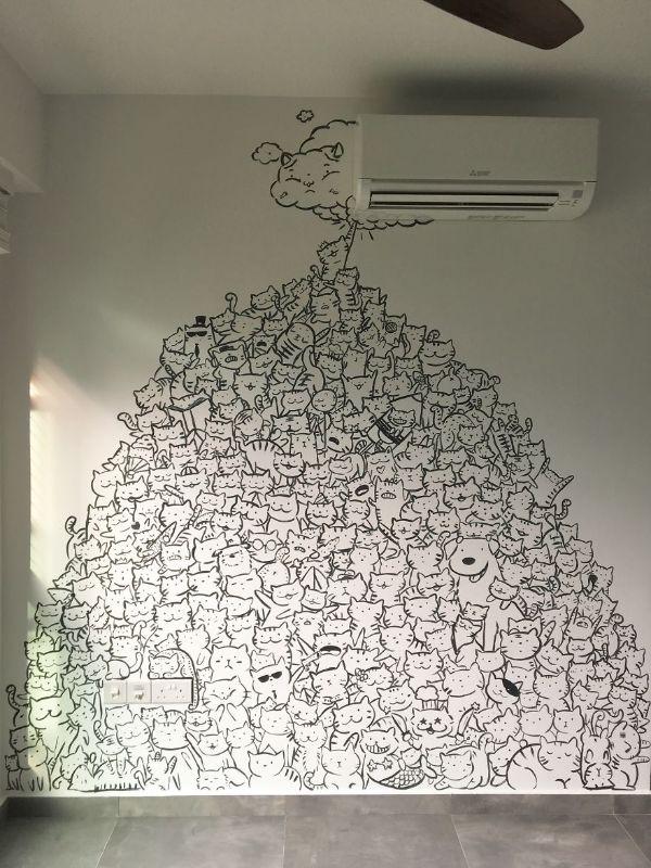 dibujos para pared de cuarto de animales