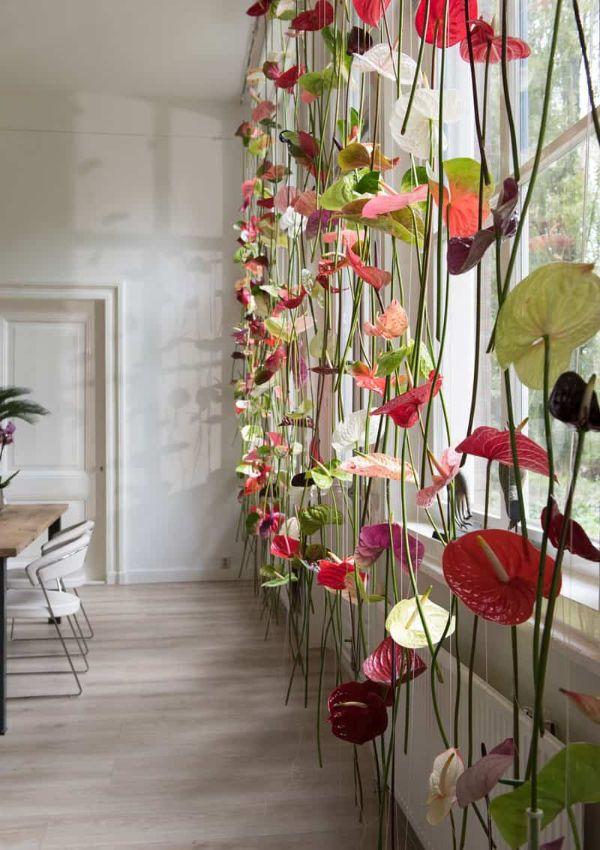 flores artificiales para decorar enredaderas