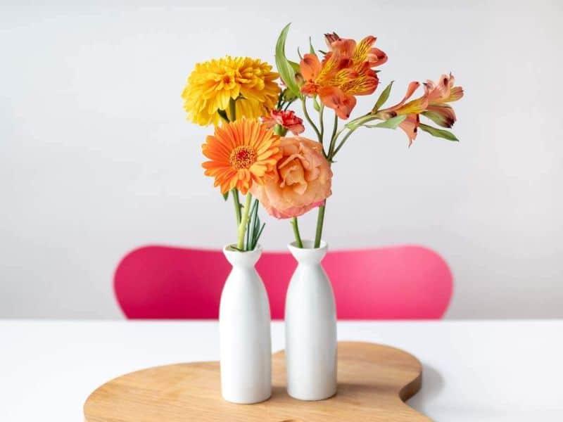flores artificiales para decorar floreros modernos