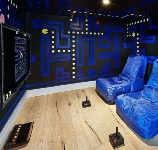 ideas para cuartos gamer murales