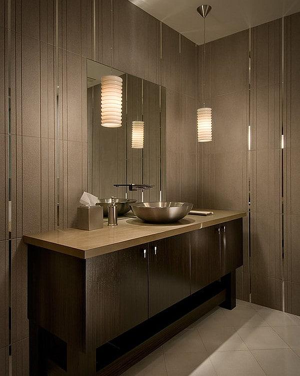 iluminación baños pequeños luces tenues