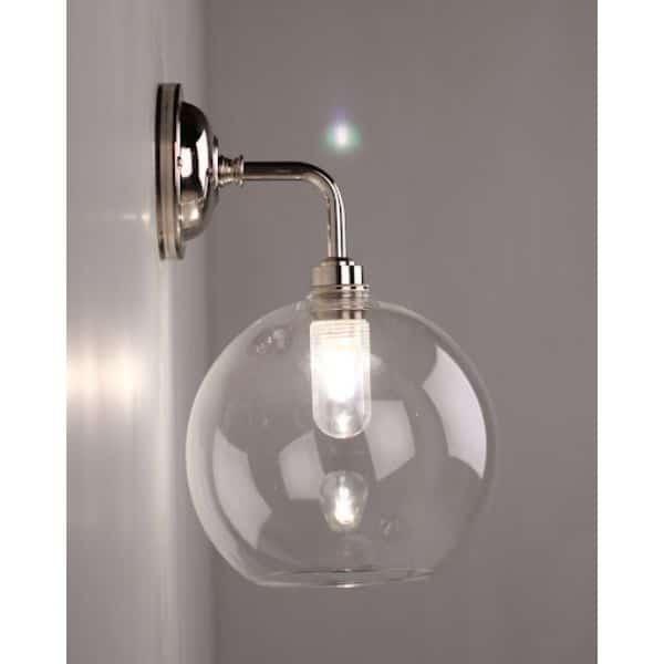 lamparas de baño de pared con cristal