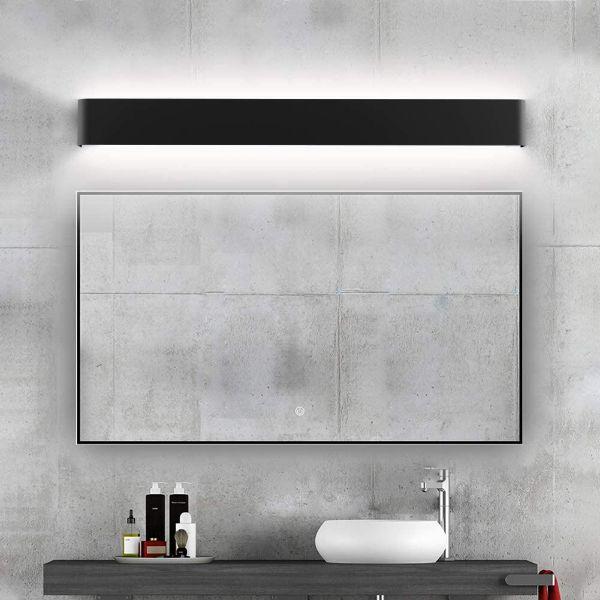 lamparas de pared para baño led sobre espejo