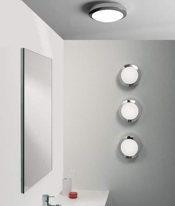 lamparas para baños modernos conjunto en circulos