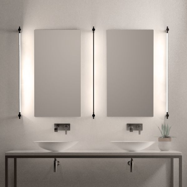 lamparas para baños modernos detras de los espejos