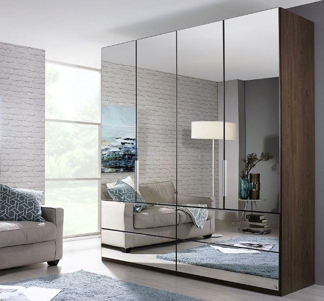 roperos modernos con espejo como puerta