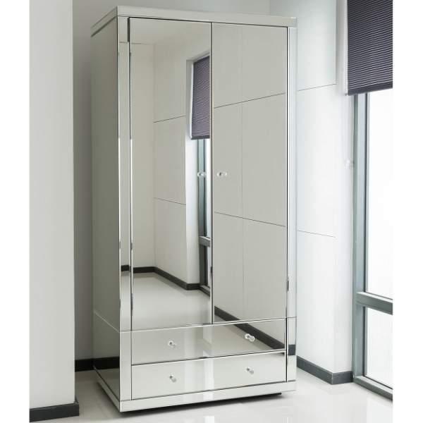 roperos modernos con espejo pequeños