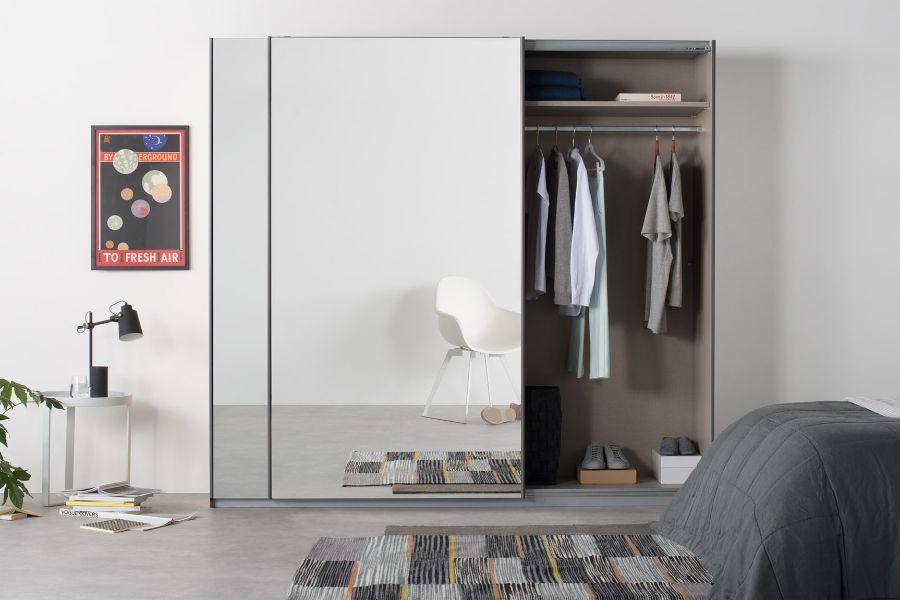 roperos modernos con espejo puerta corrediza