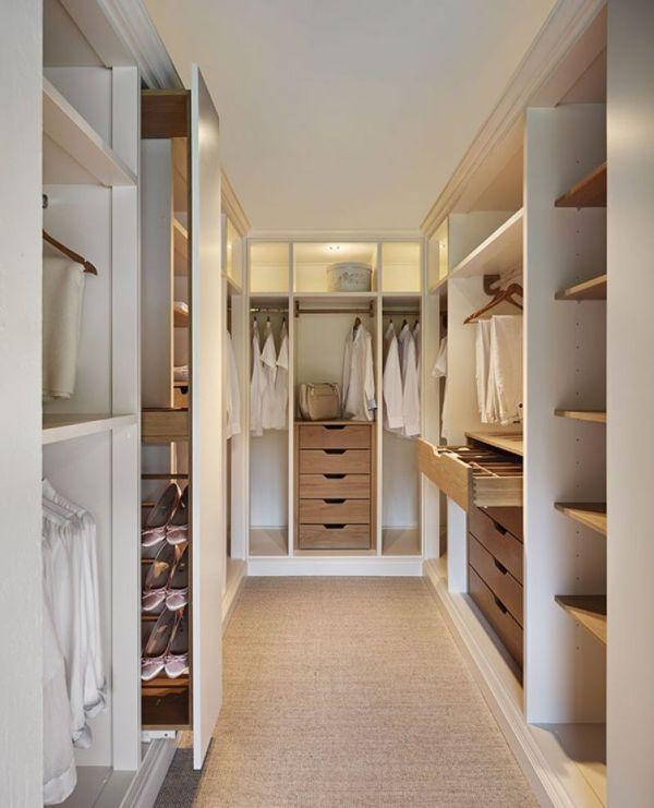 walking closet modernos con iluminacion