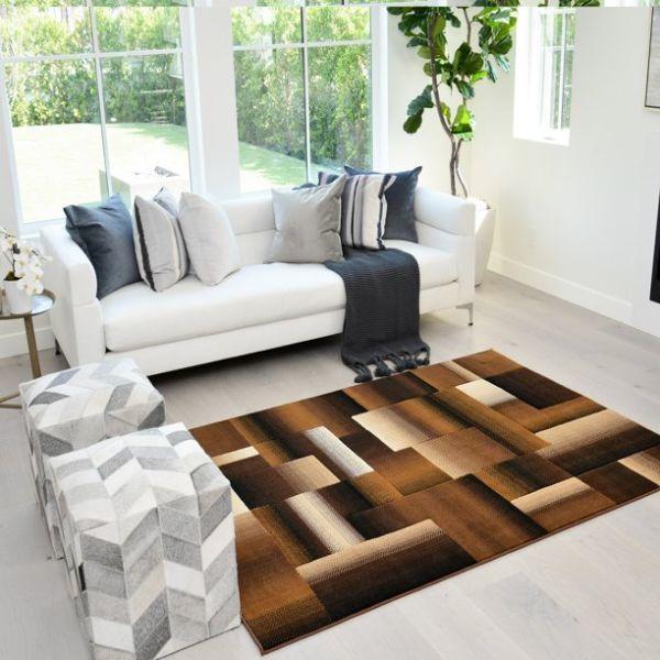 alfombras para salas modernas geometria abstracta
