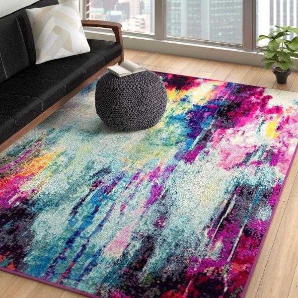 alfombras para salas modernas impresión manchas