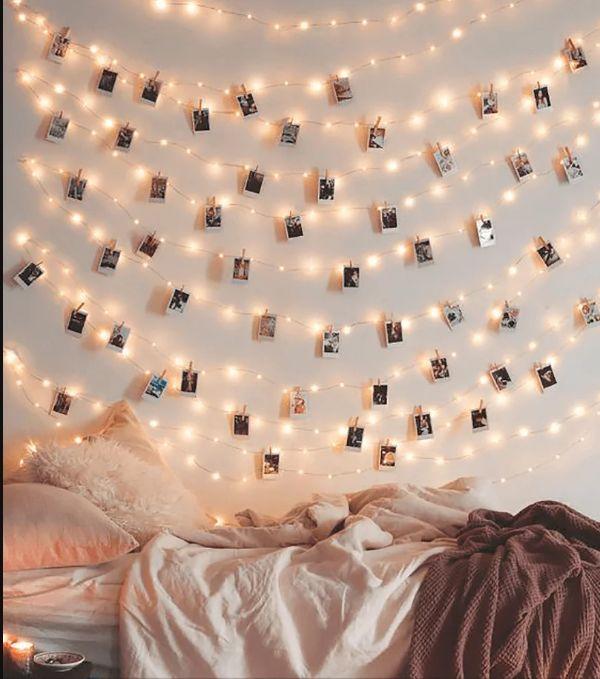 como decorar tu cuarto aesthetic fotos y luces