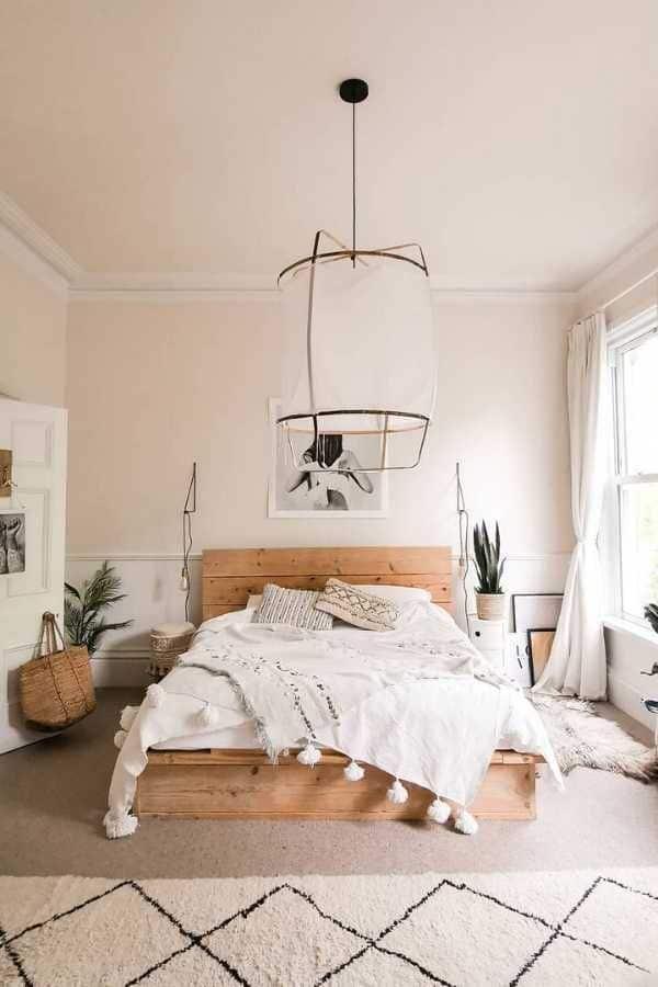 como decorar un cuarto de pareja joven boho y minimalista