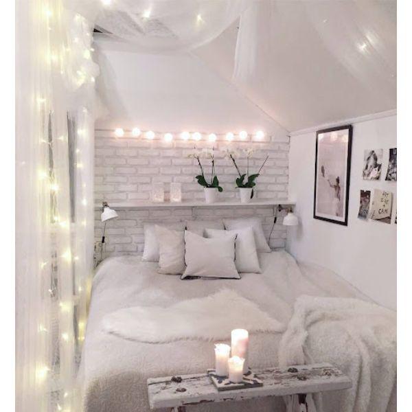 como decorar una habitación juvenil iluminación