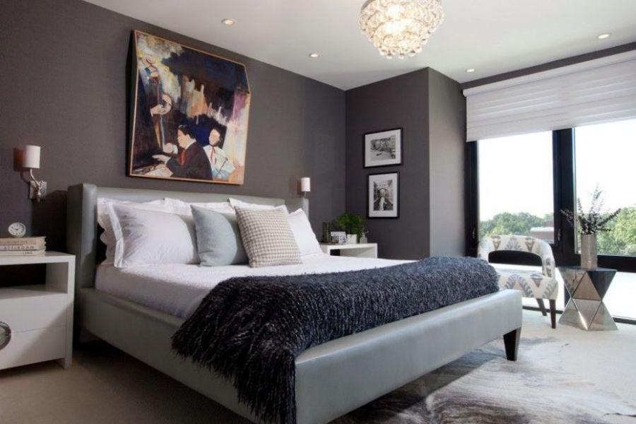 como pintar una habitación moderna gris