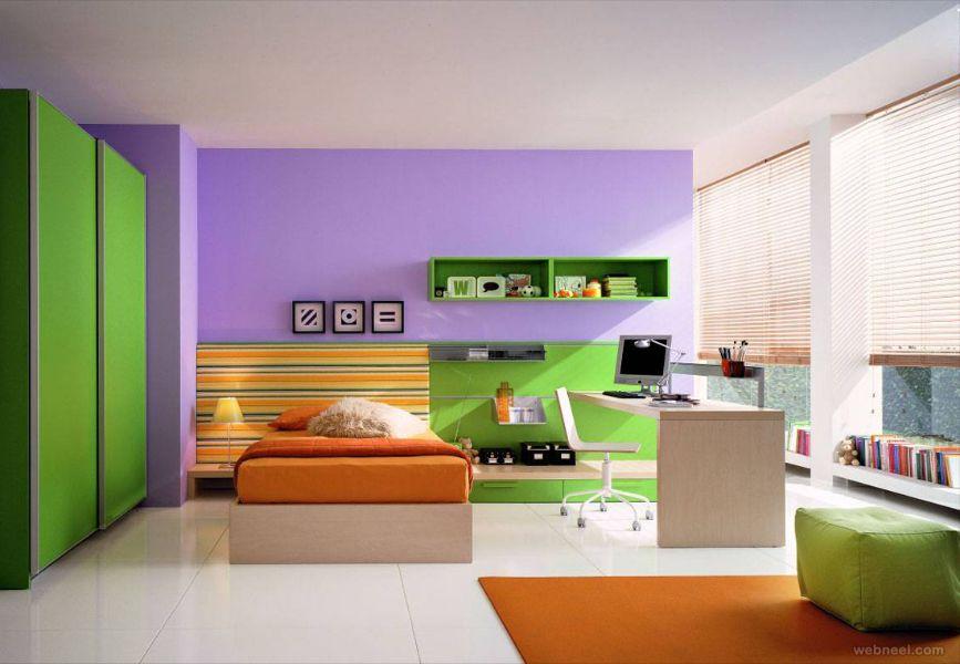como pintar una habitación moderna tonos frios