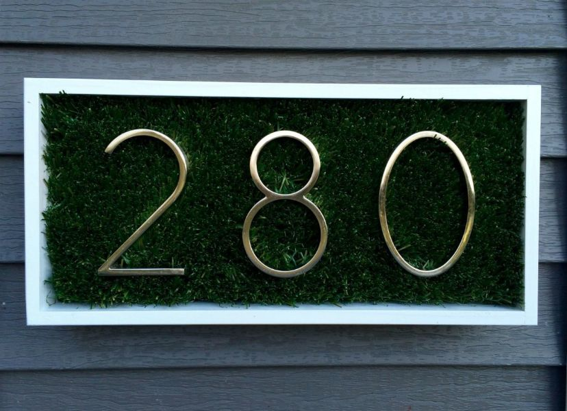 decoracion de la entrada de la casa numeros