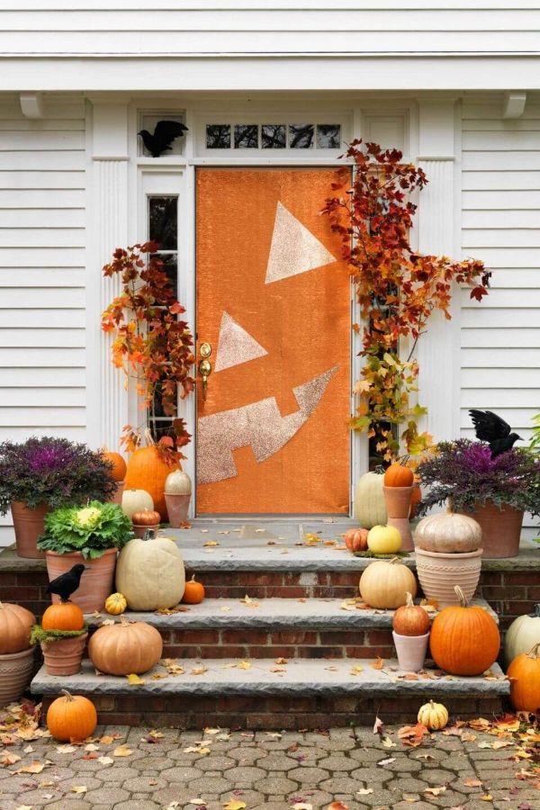 decoracion de la entrada de la casa por temporada