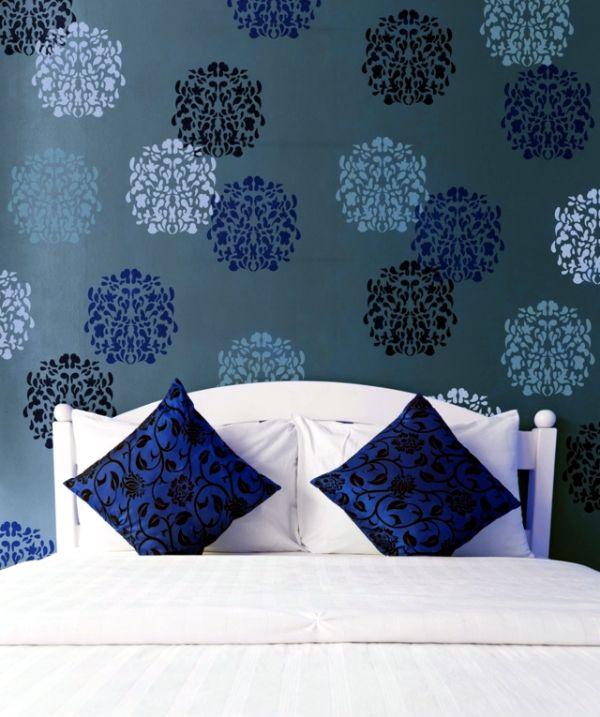 imagenes para pintar en la pared flores con estencil