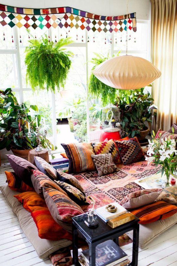 salas estilo boho chic tradicional