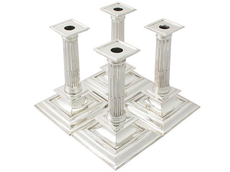 tipos de candelabros antiguos estilo pilar