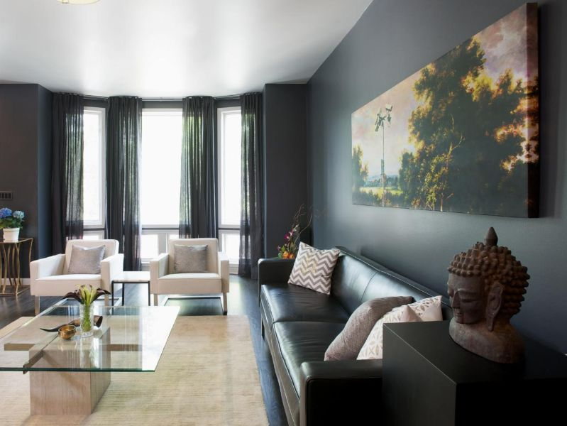 colores para salas modernas gris