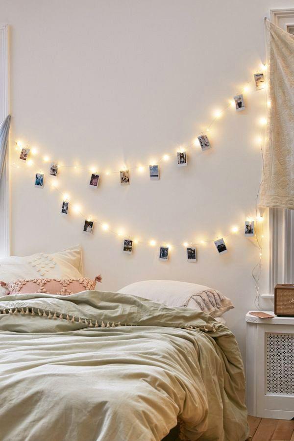 decorar la habitación con fotos ideas luminosas