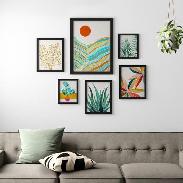 elegantes cuadros para sala en conjunto