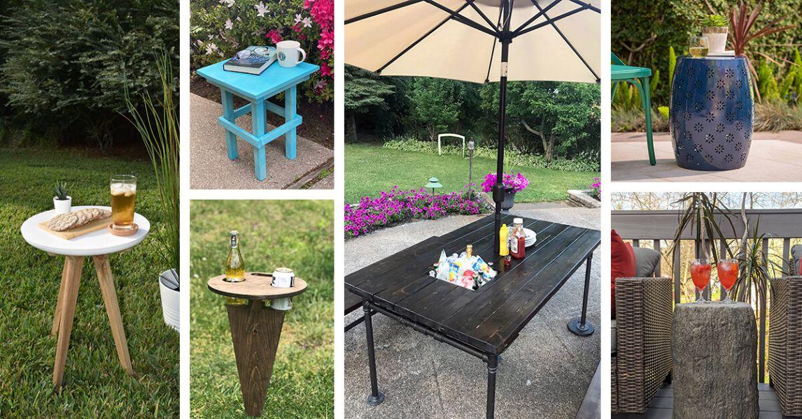 mesas para patios exteriores diferentes estilos